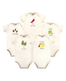 Baby Girls and Boys Taco Bodysuits, Pack of 5