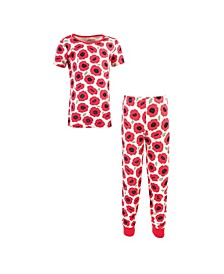 Toddler Girls and Boys Poppy Tight-Fit Pajama Set, Pack of 2