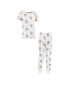 Little Girls and Boys Elephant Tight-Fit Pajama Set, Pack of 2