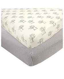 Baby Girls and Boys Birch Trees Crib Sheet, Pack of 2