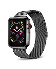 Men's and Women's Apple Black Stainless Steel Replacement Band 44mm