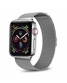 Men's and Women's Apple Silver-Tone Stainless Steel Replacement Band 44mm