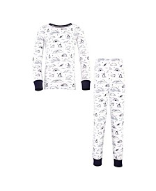 Big Girls and Boys Arctic Tight-Fit Pajama Set, Pack of 2
