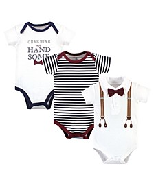 Baby Girls and Boys Charming Handsome Bodysuits, Pack of 3