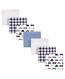 Baby Boys Handsome Fella Flannel Receiving Blankets, Pack of 7