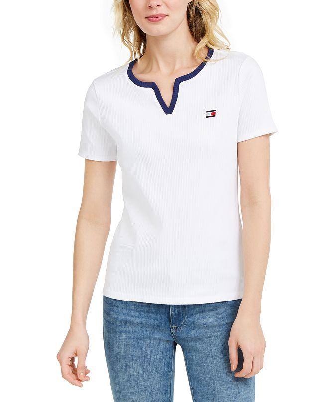 Tommy Hilfiger Rib-Knit T-Shirt