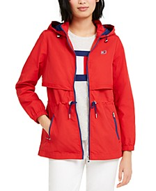Cinch-Waist Hooded Jacket