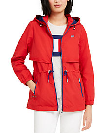 Tommy Hilfiger Sport Cinch-Waist Hooded Jacket