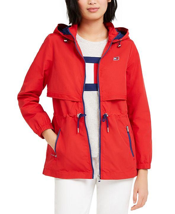 Tommy Hilfiger Cinch-Waist Hooded Jacket