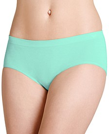 Smooth and Shine Seamfree Heathered Hipster Underwear 2187, available in extended sizes