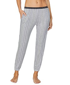 Cropped Knit Jogger Pajama Pants
