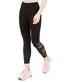 Calvin Klein Performance Outline-Logo High-Waist Cropped Leggings