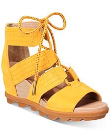 Joanie II Lace-Up Wedge Sandals