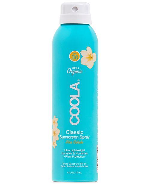 COOLA Classic Body Organic Sunscreen Spray SPF 30 - Pina Colada, 6-oz.