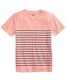 Big Boys Stripe V-Neck T-Shirt, Created for Macy's