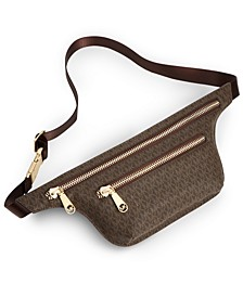 Double-Zip Logo Belt Bag