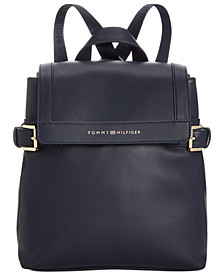 Emerson Smooth  Flap Backpack