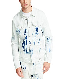 Men's Tie Dye Denim Jacket