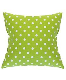 "Small Polka Dot Decorative Throw Pillow Extra Large 24"" x 24"""