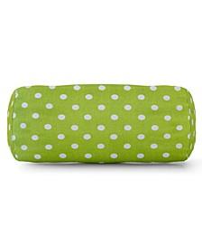 "Small Polka Dot Decorative Round Bolster Pillow 18.5"" x 8"""