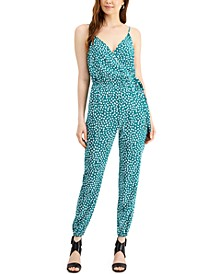 Printed Tie-Waist Jumpsuit, Created for Macy's