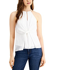 Tie-Front Keyhole Top, Created for Macy's