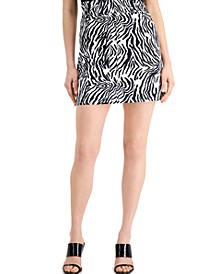 Zebra-Print Paperbag Mini Skirt, Created for Macy's