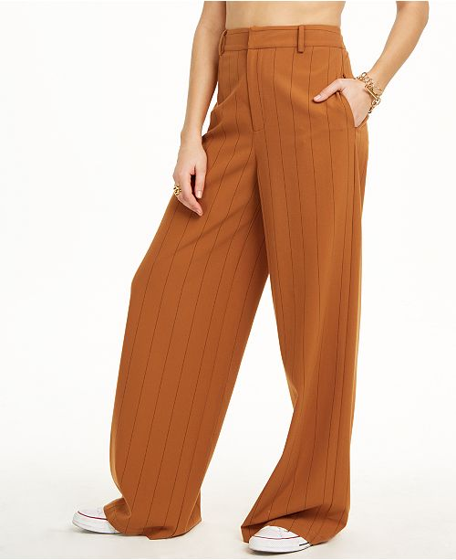 Danielle Bernstein Pinstripe Trouser Pants, Created for Macy's