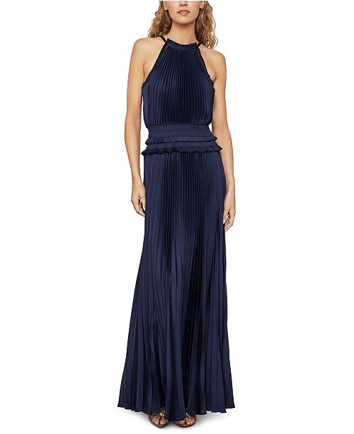BCBGMAXAZRIA Pleated Maxi Dress