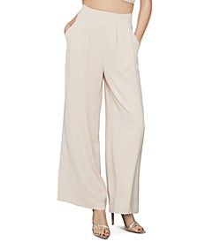 Inverted-Pleat Wide-Leg Trousers