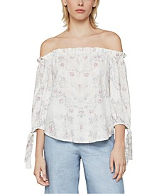 Floral-Print Off-The-Shoulder Blouse