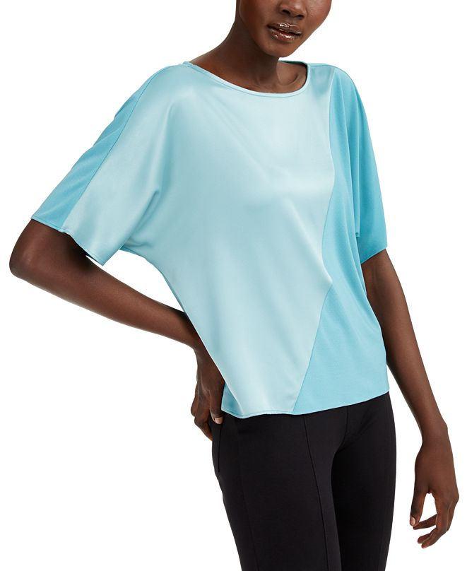 Alfani Mixed-Media Colorblocked Top, Created for Macy's