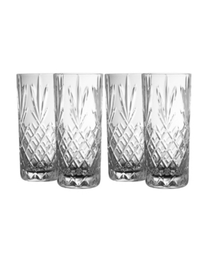 Belleek Pottery Renmore Hi-Ball Glasses, Set of 4