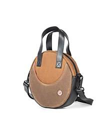 Waxed Circle Line Shoulder Bag