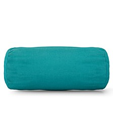 """Solid Decorative Round Bolster Pillow 18.5"""" x 8"""""""