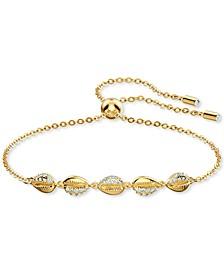 Gold-Tone Crystal Shell Link Bracelet