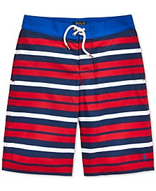 Big Boys Striped Sanibel Swim Trunks
