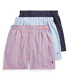 Men's Classic 3-Pack Woven Boxer