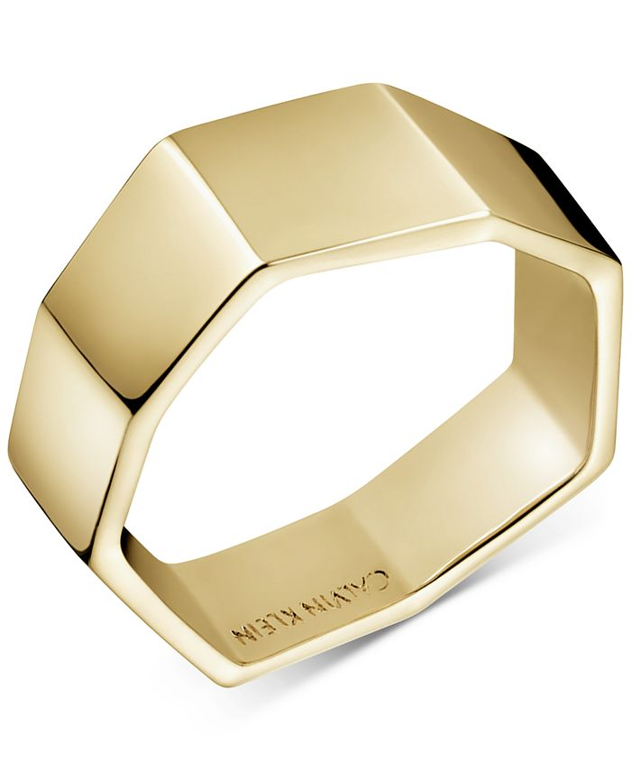 Calvin Klein - Angled Ring in Gold-Tone