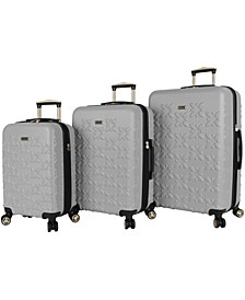 Butterflower 3-Pc. Hardside Luggage Set