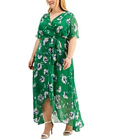 Plus Size High-Low Maxi Dress