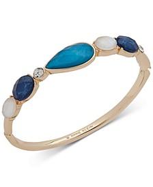 Gold-Tone Multi-Stone Bangle Bracelet