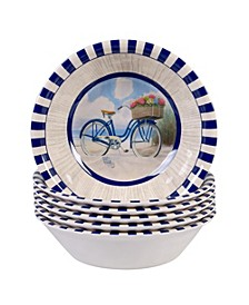 Beach Time Melamine 6-Pc. All Purpose Bowls
