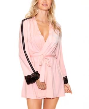 Women's Elegant Knit Ultra Soft Contrast Lace Robe