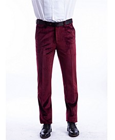 Men's Velvet Tuxedo Dress Pants