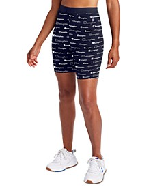 Women's Logo-Print Double Dry Bike Shorts