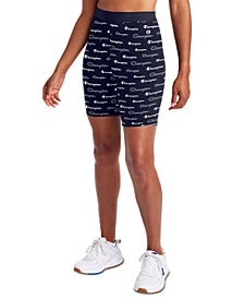 Champion Women's Logo-Print Double Dry Bike Shorts
