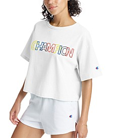 Women's Cotton Heritage Logo Cropped T-Shirt