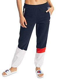Women's Mixed-Media Sweatpants