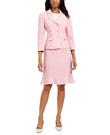 Flared-Hem Skirt Suit